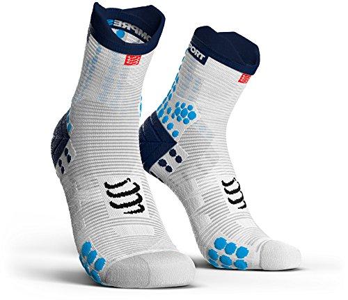Feetures Low Cut Sock (Compressport Pro Racing V3.0 Run Low Socks White/Blue Schuhgröße T4 | 45-48 2018 Laufsocken)