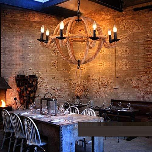 WXW Candela Candela Stile Europeo Stile retrò, Lusso Otto Lampadari Decorativi Testa, Lampadari in Ferro, Multiuso, Salotto, caffè, Lampadari per Hotel, (Senza Lampadine)