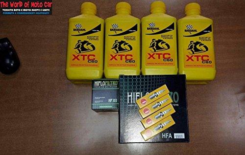 KIT TAGLIANDO VT 1100 C2 SHADOW 99/07 FILTRO OLIO ARIA CANDELE BARDAHL 15W50