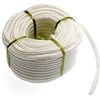 LEORX Corda in polipropilene 4 * 20m treccia con anima in poliestere per uso di tenda esterna Clothesline (bianco) - Cavo Clothesline