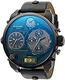 Diesel - DZ7127 - Montre Homme - Quartz Analogique - Digital - Chronomètre - Bracelet Cuir Noir
