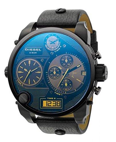 Diesel Herren-Armbanduhr XL Mr. Daddy Multi Movement Analog - Digital Quarz Leder DZ7127