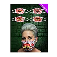 Islander Fashions Adult Gofy Teeth Surgeon Mask 4 Assorted Unisex Halloween Party Wear Accessory One Size