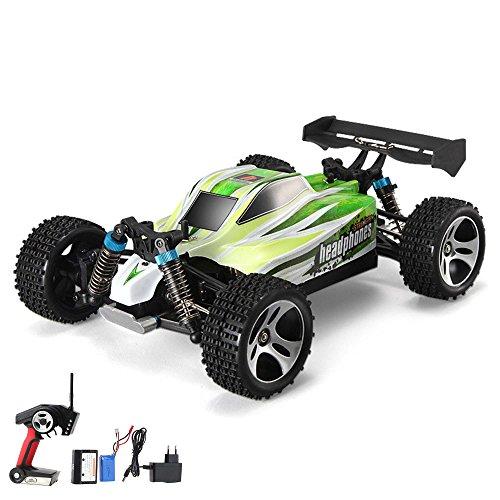 gesteuerter Off-Road 4WD Buggy, 2.4GHz 1:18 Modell, LiPo-Power bis zu 70km/h schnell, Ready-To-Drive, Fahrzeug, Auto, Modellbau, Inkl. Fernsteuerung, Akku und Ladegerät (Pro-rc-cars)
