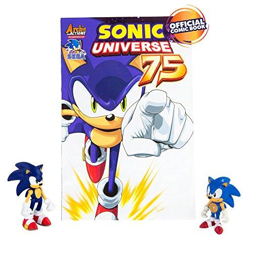 TOMY Lot de 2 Figurines Sonic avec Bande-dessinée (français Non Garanti)