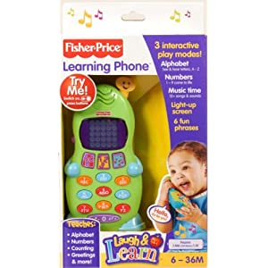 Fisher-Price BHC01 Smart Phone, Laugh and Learn Electronic Speaking Kids Role Play Toy Phone, Suitable for 6 Months Plus 8