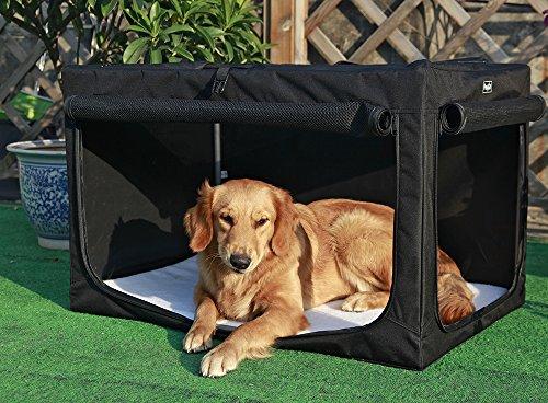 Petsfit tragbares und faltbares, weiches Haustier-Spielhaus, für Innen und Außen - Klappbare Hundekiste, 89 x 58 x 58 cm (groß)