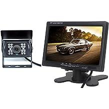 BW 7 pulgadas Color LCD Monitor + Cámara de marcha atrás retrovisor de coche para Bus camión 12 V - 24 V
