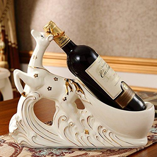 Arts Stile Home Crafts And (Kreative Weinregal Dekoration Europäischen Stil Wohnzimmer Weinschrank Dekoration Keramik Deer Arts Crafts Einweihungsparty New Home Geschenke,A)