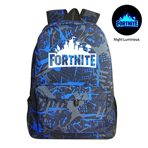c467f09c95 Kobwa Fortnite Luminous Backpack Battle Royale School Bag Notebook Rucksack  Laptop Fortnite Galaxy Backpack for Teenagers Boys and Girls