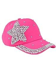 Landons Estrellas de Diamantes de Imitación de los Niños en Forma de Sombrero del Snapback Gorra