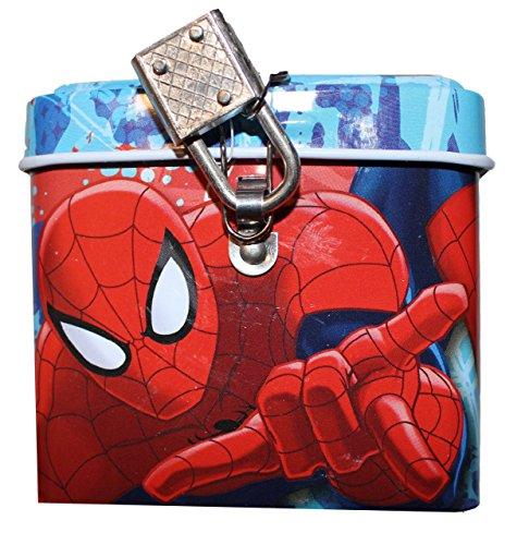 Marvel Spiderman salvadanaio con lucchetto (mv92251)