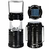 #9: Samplus Solar Emergency Light Lantern, USB Mobile Charging Point, Rechargeable Night Light Travel Camping Lantern