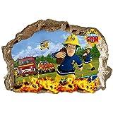 Muursticker Brandweerman Sam, voor kinderkamer, jongens en meisjes, 70 x 47 cm