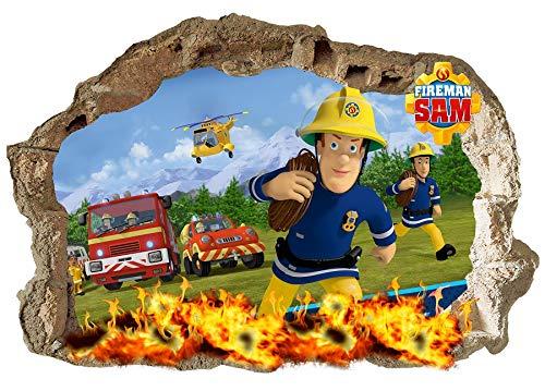Wandaufkleber Feuerwehrmann Sam, für Kinderzimmer, Jungen und Mädchen, 70 x 47 cm (Qualität Bedeutet, Dass Unsere Elektronische)