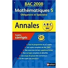 Mathématiques S : Sujets corrigés