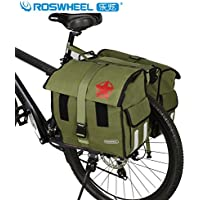 379c2544794 Fashion Cool Roswheel Waterproof Bicycle Bike Rear Seat Carrier Bag Cycling  Canvas Double Pannier Bag 45