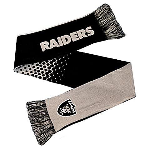 Oakland Raiders NFL Fade 10 Gauge Knitted Supporters Scarf