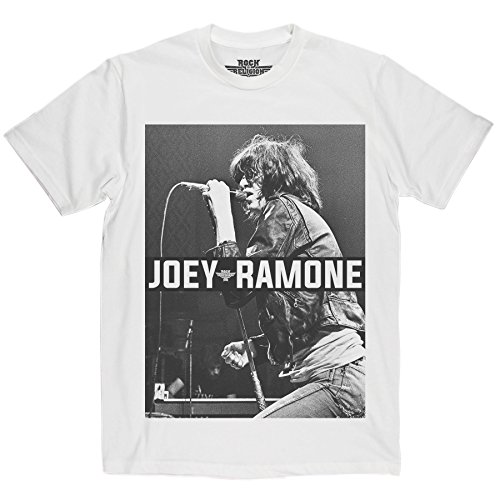 Rock Is Religion Maglietta Joey Ramone White Small