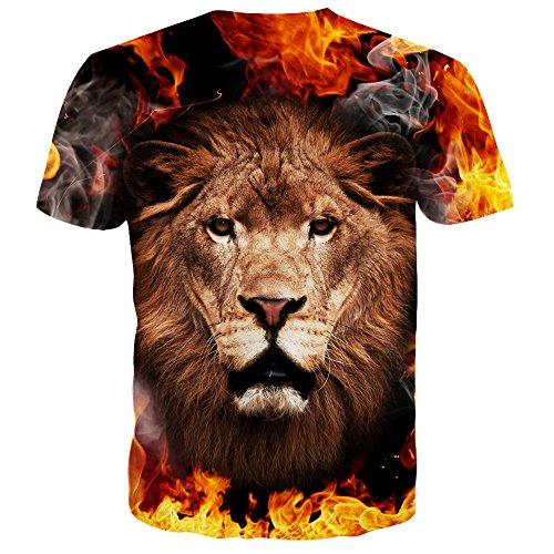 Syaimn Unisex 3D Pattern Print Kurzarm T-Shirts Beiläufige Grafik T-Shirts Multicoloured 26