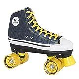HUDORA Rollschuhe Roller-Skates Blue Denim, Disco-Roller, Gr. 42, 13016
