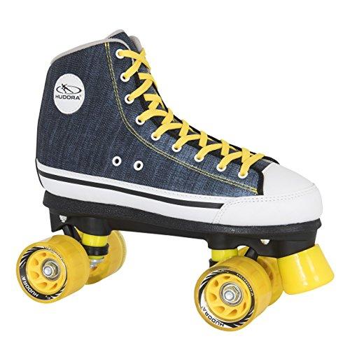 HUDORA Rollschuhe Roller-Skates Blue Denim, Disco-Roller, Gr. 40, 13014