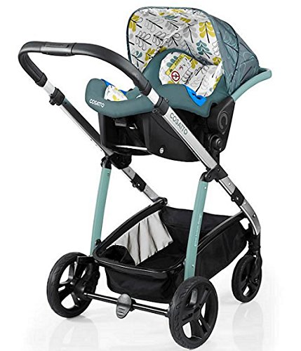 Cosatto wow Travel system with Port bag and footmuff in Fjord Cosatto Includes - Pushchair, Carrycot, Port Car seat, Footmuff, Changing bag and Raincover Suitable from birth up to 15kg (4 years approx.) 'In or out' facing pushchair seat lets them bond with you or enjoy the view. 7