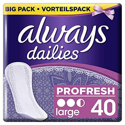 Always Profresh Slipeinlagen, Large, 4er Pack (4 x 40 stück)