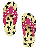 Hatley LBH Kids Flip Flops-Girl Bears on Natural, Chaussures de Plage & Piscine Fille, Blanc cassé, S