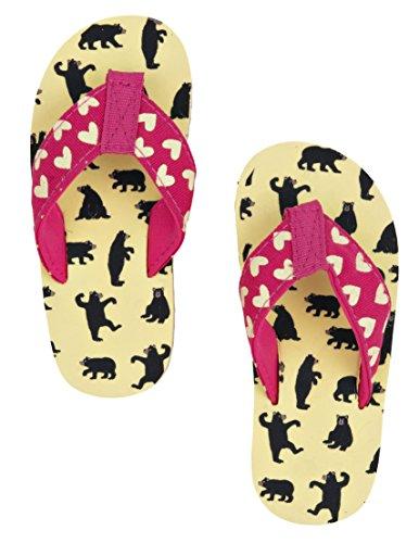 Hatley - Lbh Kids Flip Flops - Girl Bears On Natural, Scarpe da Spiaggia e Piscina Bambina Off White (Off White)