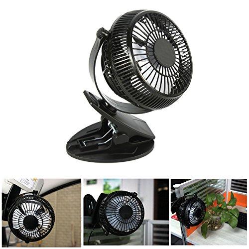Mini Fan Schreibtisch Fan Ventilator, USB Tischventilator leise 5 Zoll 360-Grad-Drehung Einstellbare tragbare Mini-Tisch und Büro / Bett / Schlafzimmer /von WEINAS