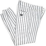 Wilson Erwachsene Poly Warp Knit Woven Pinstripe Baseball Hose, Jungen Mädchen damen, A4378 WNP XL, White/Navy Pinstripes, xl