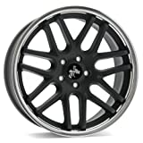 KESKIN KT14 MATT BLACK STEEL LIP 10x20 ET30 5.00x120.00 Hub Hole 72.60 mm - Alu felgen