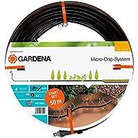 GARDENA 1389-20 - Set de inicio con tubo de goteo subterráneo para hileras de plantas, 13.7 mm: manguera de goteo para un riego eficaz que ahorra agua