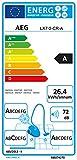 AEG LX7-2-CR-A Staubsauger ohne Beutel EEK A (750 Watt, inkl. Hartbodendüse, Turbo-Bodendüse und Spezialdüsen-Set zur Entfernung von Tierhaaren, 9 m Aktionsradius, Softräder, 1,4 Liter Staubbehälter, waschbarer Allergy Plus Filter) rot - 2