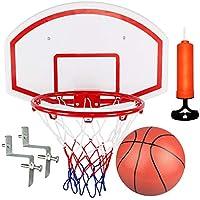 Aro de baloncesto bajo techo para el dormitorio, (Marco de 39cm + bomba + Bola 22cm), adecuado para niños o adultos mayores de 4 años, en interiores y patios al aire libre, balcones y jardines.