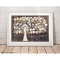 29,7x21 cm A4 Hochzeitsbaum von CristalPainting, Wedding tree - Fingerabdruckbaum Gästebuch Papierdruck Hochzeitsspiele inkl. Anleitung