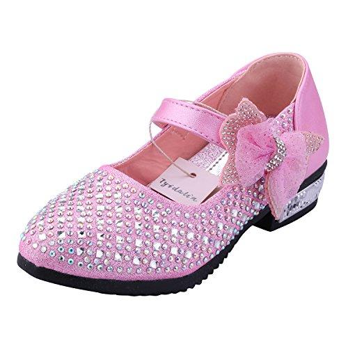Tyidalin Zapato Princesa Niña Sandalias de Vestir Bailarinas Princesa Zapatos con Tacón Para Cumpleaños Fiesta Cosplay Carnaval Halloween Niñas