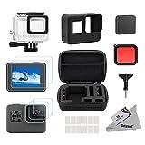 Deyard 25 in 1 Zubehör-Kit für GoPro Hero (2018) GoPro Hero 6 Hero 5 mit Shockproof Small Case Bundle für GoPro Hero (2018) GoPro Hero 6 Hero 5 Action-Kamera