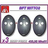 3 X BFT MITTO 2 Télécommande, 433.92Mhz rolling code