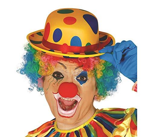 Guirca Fiestas GUI13392 - Gepunkteter Satin Clown-Melonen-Hut