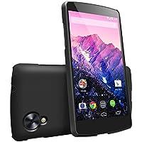 Funda Nexus 5 - Ringke SLIM [Free películas HD/Mejor agarre][SF BLACK] Premium estuche duro recubierto de doble cubierta para Google Nexus 5