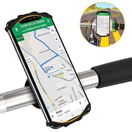 Fahrrad Handyhalterung Universal Fahrrad Handyhalter, 360° Drehbar Handy Fahrradhalterung, Motorrad Handyhalterung für 4-6,5 Zoll Smartphones