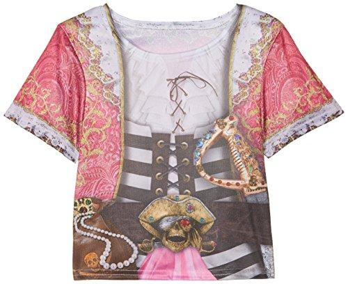 Rubie's 2630866S Pirate Girl T-Shirt Child, Kostüm für Kinder, ()