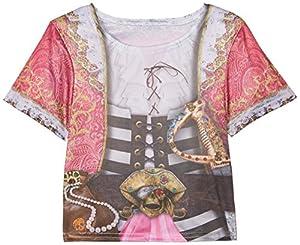 Rubies-i-630866s-Camiseta sublimación Pirata-niña-Talla S