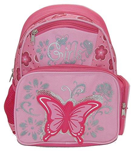 STEFANO Kinder Reisegepäck Schmetterling pink rosa --präsentiert von RabamtaGO®-- (Trolley) Rucksack