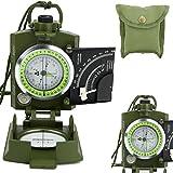 Aleto Armee BW Marschkompass Bundeswehr Militär Kompass Taschenkompass mit Lupe