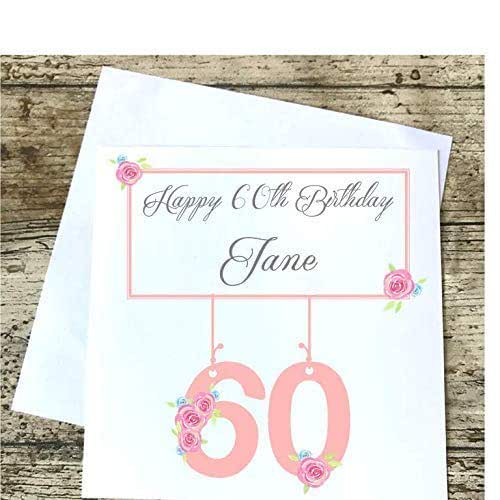 Personalised Birthday Card Friend Auntie Mum Great Nanny Nana Nan