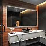 FORAM Design Badspiegel mit LED Beleuchtung Wandspiegel Badezimmerspiegel Nach Maß