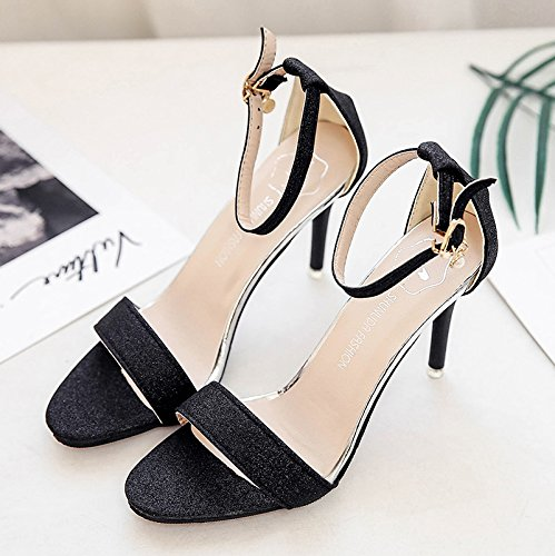 RUGAI-UE Semplice sandali Donna Scarpe High-Heeled Black
